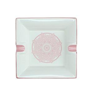 Τασάκι από πορσελάνη σχ.Mandala ροζ, 17,5cm