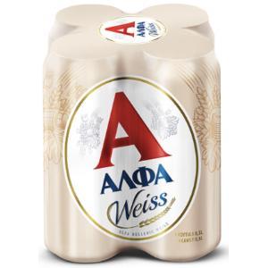 Μπύρες Άλφα Weiss 4x500ml