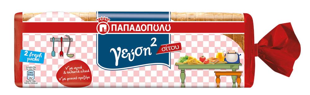 Ψωμί Τοστ Σίτου Παπαδοπούλου 28φέτες