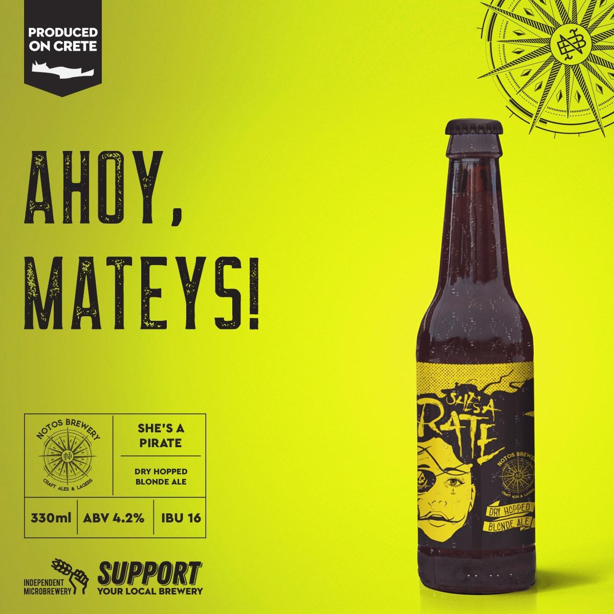 Μπύρα Pirate Notos 330ml