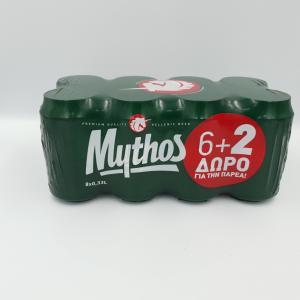 Μπύρες Mythos 6+2ΔΩΡΟ