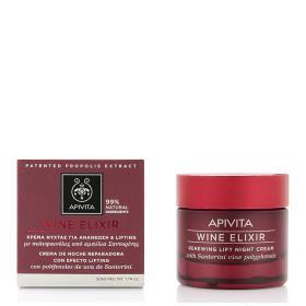 Apivita Wine Elixir Κρέμα Νύχτας για Ανανέωση & Lifting με Πολυφαινόλες από αμπέλια Σαντορίνης 50ml