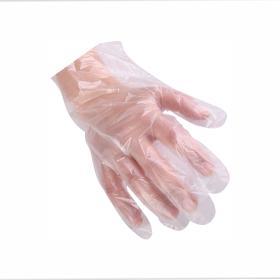 Γάντια μιας χρήσης διάφανα μέγεθος L (Large) PE 100τμχ