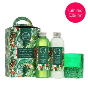 Fresh Line Green Summer Cocktail Box με Μοχίτο & Λαϊμ  αφρόλουτρο 200ml,  Γαλάκτωμα Σώματος 200ml, Χειροποίητο Σαπούνι ~120gr
