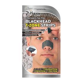 7th Heaven For men charcoal & tea tree blackhead t-zone strips. Λωρίδες καθαρισμού των πόρων της περιοχής Τ