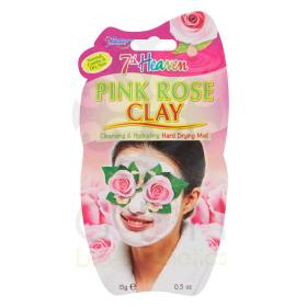 7th Heaven pink rose clay Μάσκα προσώπου με ροζ άργιλο 15gr