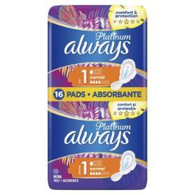 Always Platinum Ultra Normal Plus Σερβιέτες Με Φτερά 8τμχ. (Μέγεθος 1) 1+1 Δώρο