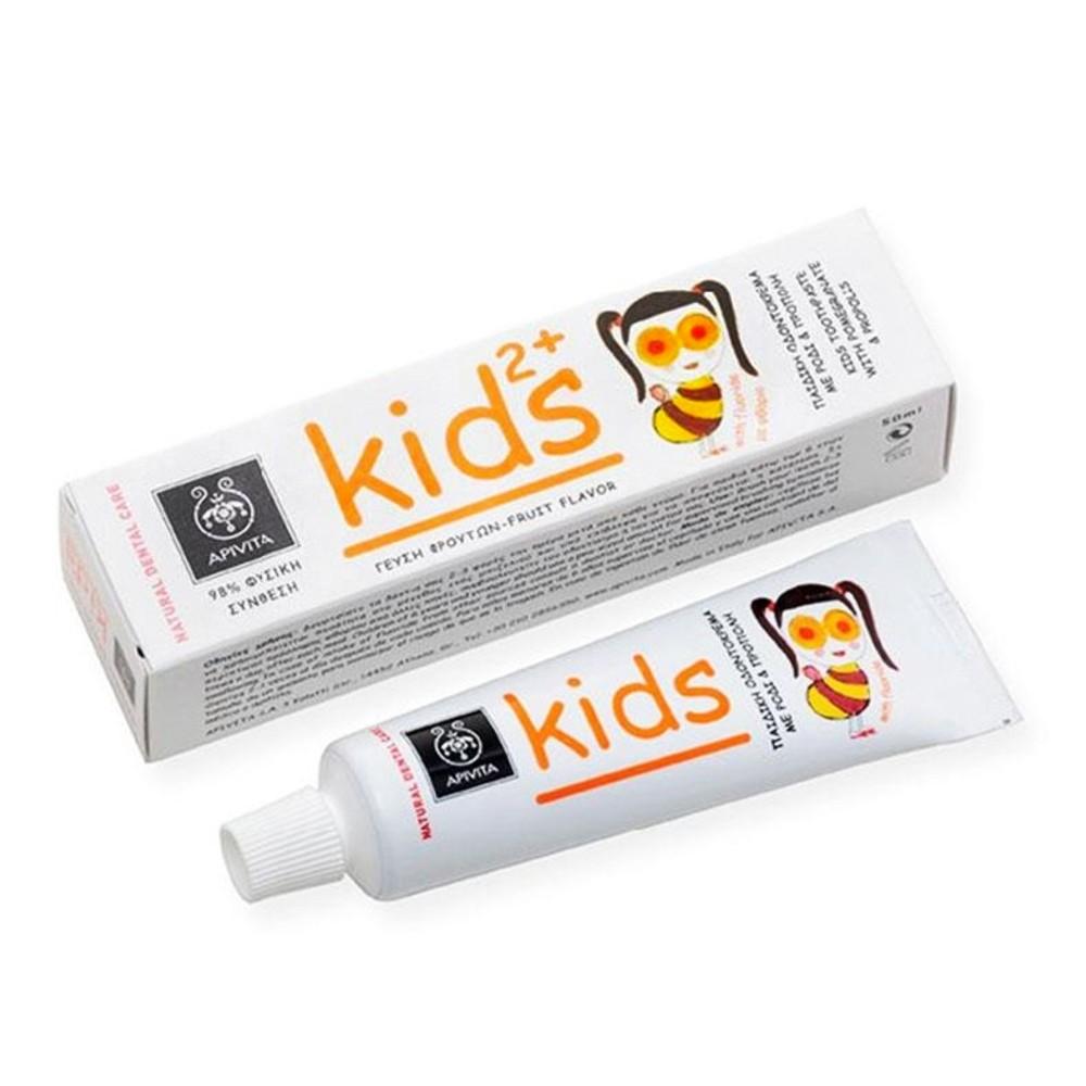 Apivita οδοντόκρεμα παιδική 2+ με ρόδι και πρόπολη 50ml