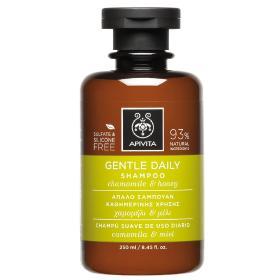 Apivita Holistic Hair Care Σαμπουάν για συχνό λούσιμο με χαμομήλι & μέλι 250ml