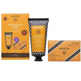 Apivita Bee Protective Honey Κρέμα Χεριών Εντατικής Ενυδάτωσης με Υαλουρονικό Οξύ-Μέλι 50ml + Δώρο Φυσικό Σαπούνι με Μέλι 125gr