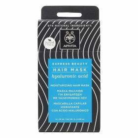 Apivita Express Beauty Ενυδατική Μάσκα Μαλλιών με Υαλουρονικό οξύ. Κουτί Με 6 Φακελάκια των 20ml το καθένα (6 x 20ml)