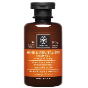 Apivita Holistic Hair Care Σαμπουάν Λάμψης και Αναζωογόνησης με Πορτοκάλι & Μέλι 250ml