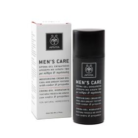 Apivita Men's Care Κρέμα-Gel Ενυδάτωσης Δροσερή, Μη Λιπαρή Υφή με Κέδρο και Προπόλη, 50ml