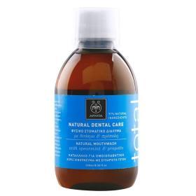 Apivita Total Natural Dental Care Φυσικό Στοματικό Διάλυμα με Δυόσμο & Πρόπολη 250ml
