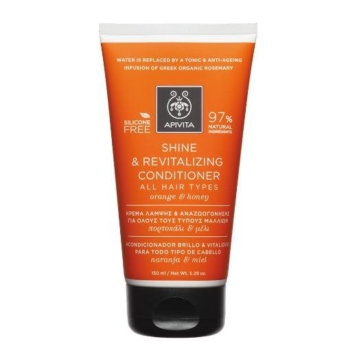 Apivita Holistic Hair Care Κρέμα Λάμψης & Αναζωογόνησης για Όλους τους Τύπους Μαλλιών 150ml