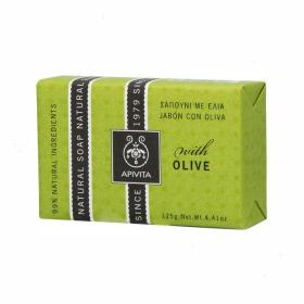 Apivita Natural Soap Σαπούνι Πλακέ με Ελιά  125gr
