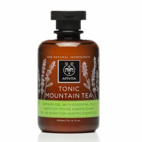Apivita Tonic Mountain Tea Shower Gel, Αφρόλουτρο με Αιθέρια Έλαια 300ml