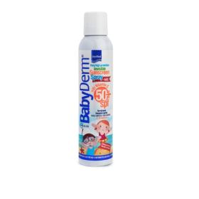 BabyDerm Invisible Sunscreen Spray for Kids SPF50+. Διάφανο Αντηλιακό Σπρέι για Παιδιά με Βιταμίνη C και υψηλή προστασία από την ακτινοβολία. 200ml