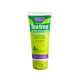 Beauty Formulas Australian Tea tree Μάσκα για βαθύ καθαρισμό προσώπου 100ml/3.3fl.oz