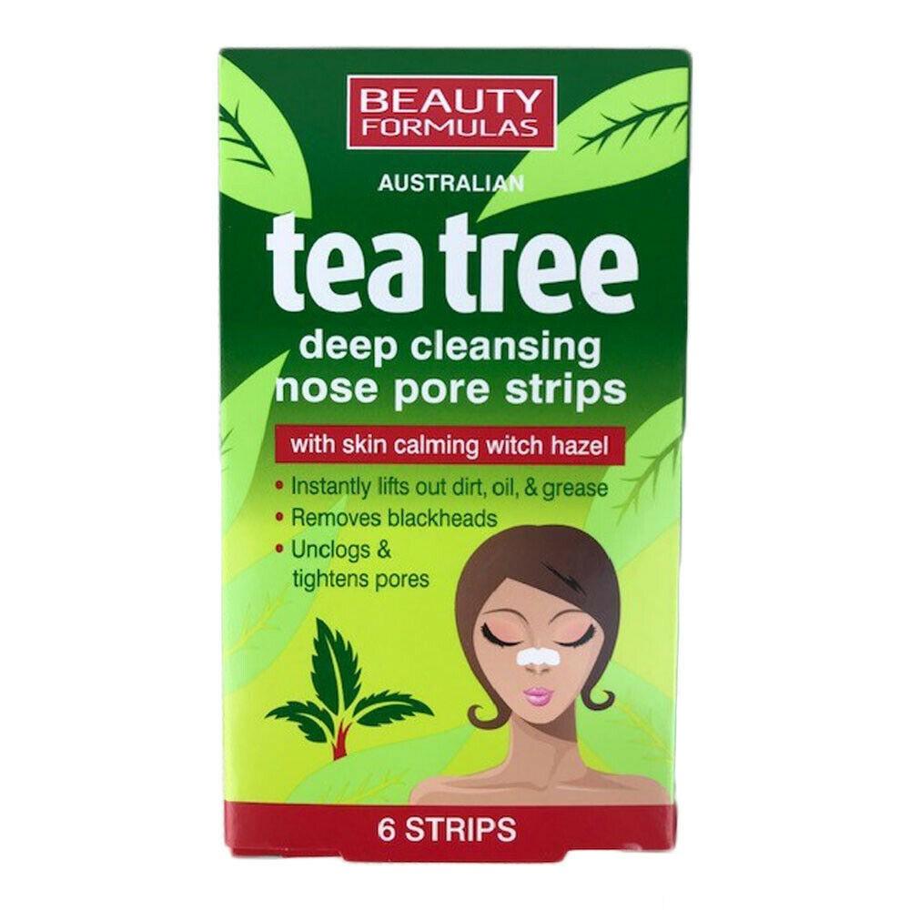 Beauty Formulas Australian Tea tree 6 Ταινίες για βαθύ καθαρισμό πόρων της Μύτης