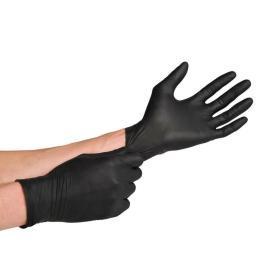 Γάντια Μαύρα extra Αντοχή από Latex μέγεθος Μ (Medium) 10τμχ