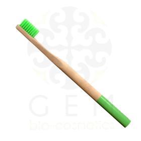 Be My Flower Οδοντόβουρτσα από μπαμπού πράσινη μαλακή για ενήλικες