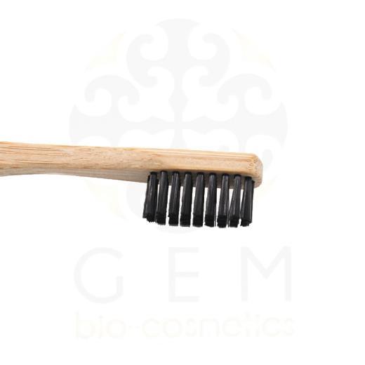 Be My Flower Οδοντόβουρτσα Μαύρη από μπαμπού μέτρια για ενήλικες