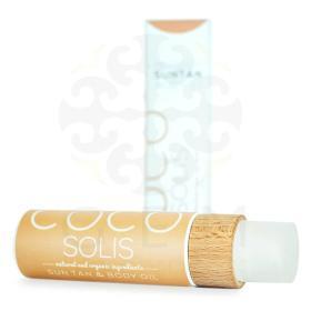 Cocosolis Organic Suntan & Body Oil Coconut - Βιολογικό έλαιο που χαρίζει στο δέρμα σας για σοκολατένιο μαύρισμα, ενυδάτωση και λάμψη. 110ml