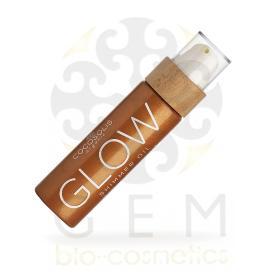 Cocosolis Organic Glow Shimmer Dry Oil με ιριδίζοντα μικροσωματίδια και βιολογικά φυσικά λάδια για λαμπερό αποτέλεσμα απορροφάται γρήγορα, δεν αφήνει λιπαρά ίχνη 110ml
