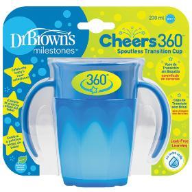 Dr.Brown's Εκπαιδευτικό Κύπελλο 360° με λαβές 6m+ μπλε, 200ml