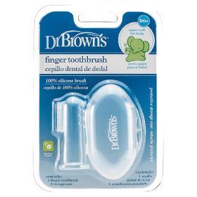 Dr.Brown's Βρεφική δακτυλική οδοντόβουρτσα σιλικόνης και θήκη αποθήκευσης, 1τμχ.