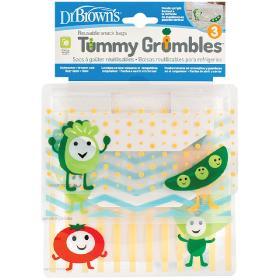Dr.Brown's Tummy Grumbles Σετ Σακουλάκια για Σνακ, 3τμχ