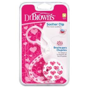 Dr.Brown's Αλυσίδα στήριξης πιπίλας ροζ, 1τμχ.