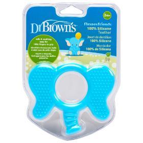 Dr.Brown's Flexees Friends Κρίκος Οδοντοφυΐας Ελέφαντας, 100% Σιλικόνη, 3+ μηνών, 1τμχ.