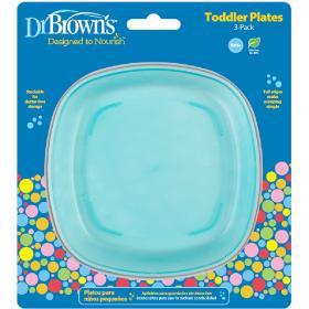 Dr.Brown's Πιάτα ρηχά φαγητού, 3τμχ.