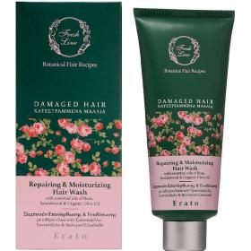 Fresh Line Erato ERATO Repairing & Moisturizing Hair Wash with Rose & Sandalwood For damaged hair 200ml
