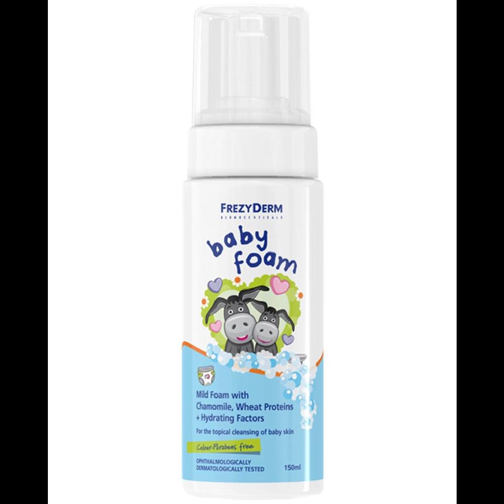 Frezyderm Baby Foam, Απαλός Αφρός Με Χαμομήλι Πρωτεΐνες Σιταριού & Ενυδατικά Συστατικά 150ml