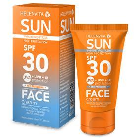 Helenvita Sun Face Cream SPF30, Αντηλιακή Κρέμα Προσώπου, 50ml