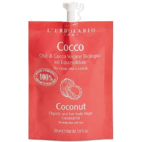 L'erbolario Cocco Οργανικό έλαιο για μαλλιά πρόσωπο και σώμα, 50ml.