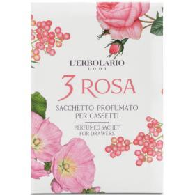 L'erbolario 3 Rosa Αρωματικά σακουλάκια για συρτάρια  1τμχ.