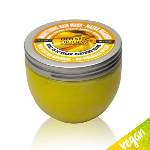 Mastic Origins Vegan Brightening Hair Mask Μάσκα μαλλιών Λάμψη & Ζωτικότητα με Μπανάνα Κρήτης & Μαστίχα, 300ml