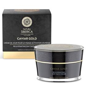 Natura Siberica Caviar Gold day face cream, Rejuvenating day face cream, suitable for normal and dry skin, Suitable for ages 30-40, 50 ml