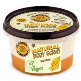 Planeta Organica Skin Super Good, Φυσικό απολεπιστικό σώματος Θρέψης «Nurturing», Μάνγκο & Σπόρους Τσία, 250ml