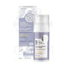 Natura Siberica Rhodiola Rosea Day Cream , Προστασία και Ενυδάτωση , για Ευαίσθητο Δέρμα , με αντιηλιακή προστασία SPF-20 , Κατάλληλο για ηλικίες 22+. 50 ml