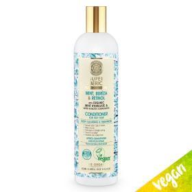 Natura Siberica Super Siberica, Mint, Bereza & Retinol, Conditioner Deep Cleansing, Μαλακτικό για βαθύ καθαρισμό και φρεσκάδα, για λιπαρά μαλλιά, 400ml.