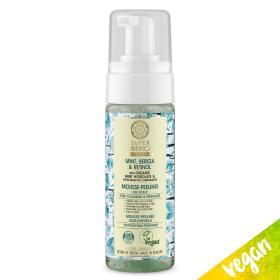 Natura Siberica Super Siberica Mint, Bereza & Retinol Mousse-peeling, Μους - Πίλινγκ για βαθύ καθαρισμό και φρεσκάδα, για λιπαρά μαλλιά, 170ml