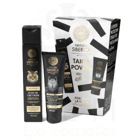 Natura Siberica Taiga Power men's gift set, Ανδρικό σετ (Σαμπουάν για το σώμα και τα μαλλιά 2 σε 1, 250ml & Κρέμα προστασίας εξωτερικού χώρου για πρόσωπο και χέρια, 75ml)