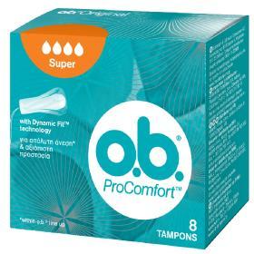 O.B. ProComfort Super Ταμπόν Αυξημένης Ροής, Dynamic Fit, 8τμχ