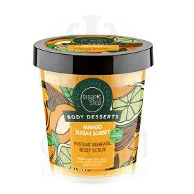 Organic Shop Body Desserts Mango Sugar Sorbet , Μάνγκο & Ζάχαρη Απολεπιστικό σώματος άμεσης ανανέωσης 450ml