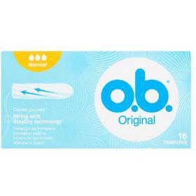 O.B. Original Normal Ταμπόν Μεσαίας Ροής, Curved Grooves 16τμχ.